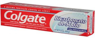 PASTA DE DENTE COM BICARBONATO DE SÓDIO