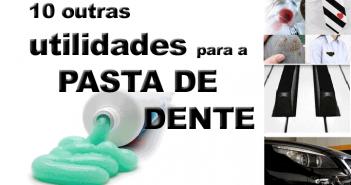 utilidades para a pasta de dente