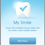 App de iPhone para clareamento dental