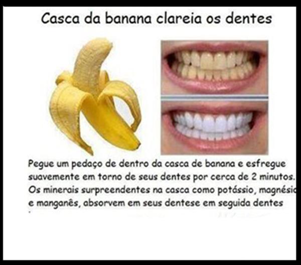 banana clareamento