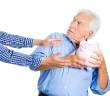 grandpa protecting his savings