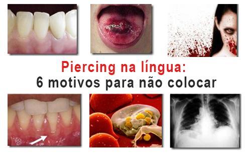 piercing na língua